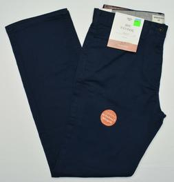 Dockers #10263 NEW Men's Navy Flat Front Straight Fit SoftSt