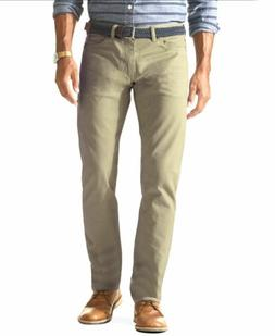 $120 NEW DOCKERS JEANS Men's 31W 32L BEIGE JEANS SLIM FIT SO