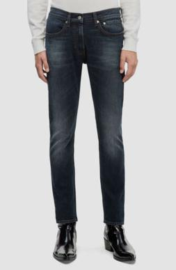 $125 Calvin Klein Jeans Men 34W 32L Blue Jeans Skinny Fit Fa