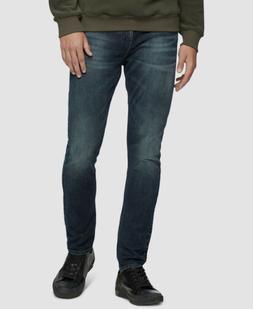 $150 Calvin Klein Men 34W 34L Blue Logo Skinny Fit Casual Je