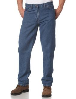Dickies Men's Regular Fit 5-Pocket Stone Washed Jean, Stone
