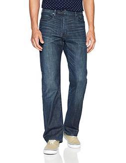 Lucky Brand Men's 181 Relaxed Straight Jean, Briny Deep, 34X