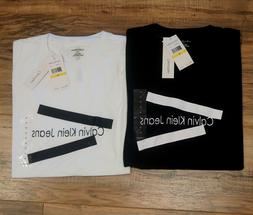 Calvin Klein Jeans Men's Logo T-Shirts Crew Neck Size M -BR
