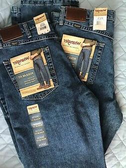 2 Pairs Wrangler Regular Fit Straight Leg Premium Jeans 34 x