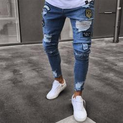 2019 <font><b>Men</b></font> Stylish Ripped <font><b>Jeans</