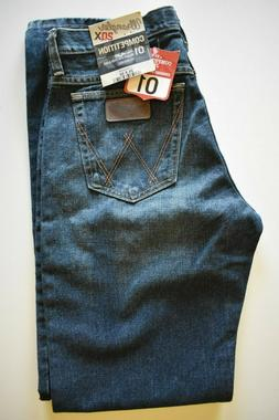 Wrangler 20X 01 Competition Relaxed Fit Denim Jeans Dark Blu