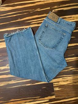 Eddie Bauer 38X28 jeans straight legs Mens Loose Fit Jeans·