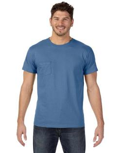 Hanes by Men's Nano-T Pocket T-Shirt, Vintage Denim, M