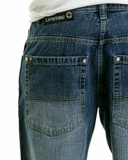 SOUTHPOLE 4180-1042 Mens Relaxed Fit Jeans Medium Sand Blue
