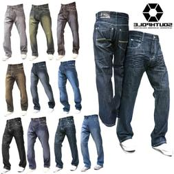 SOUTHPOLE 4180-1043 Mens Relaxed Fit Jeans Dark Light Black