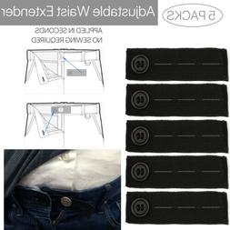 5/10PC Elastic Trouser Jeans Waist Extender Maternity Pants