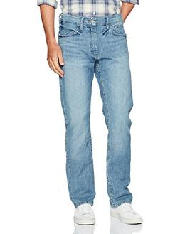 Nautica Men's 5 Pocket Relaxed Fit Stretch Jean, Light Tidew