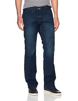 Nautica Men's 5 Pocket Relaxed Fit Stretch Jean, Pure Deep B