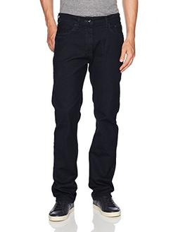 Nautica Men's 5 Pocket Straight Fit Stretch Jean, Pure Dark