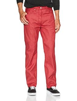 Levi's Men's 501 Big & Tall Original Shrink-to-Fit Jean, Red
