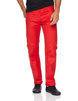 Levi's Men's 501 Original-Fit Jean, True red/STF, 31W x 32L