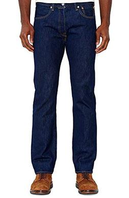 Levi's Men's 501 Original-Fit Jean, Rinse, 34W x 28L