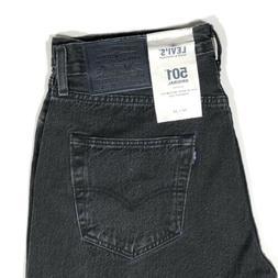 Levis 501 LMC Made & Crafted Selvedge Denim Jeans Black Men