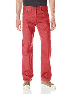 Levi's Men's 501 Original Shrink to Fit Jean, Red Dahlia, 35