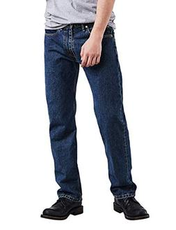 Levi's Men's 505 Regular Fit Jean, Dark Stonewash 34x32