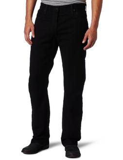 Levi's Men's 505 Regular Fit Jean, Black, 44x32