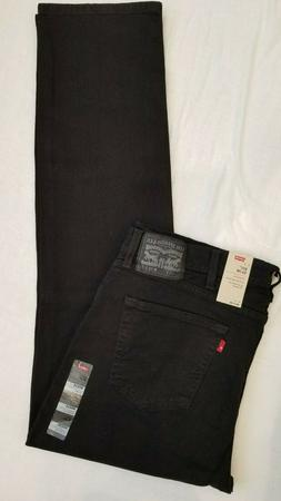 Levi's Men's 511 Slim Fit Jean, Black - Stretch, 33W x 32L