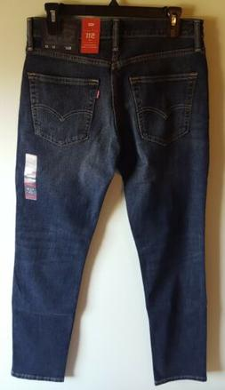 Men Levis 511 Slim Leg, Zip Fly Dark Wash  Jeans Size 36 X34