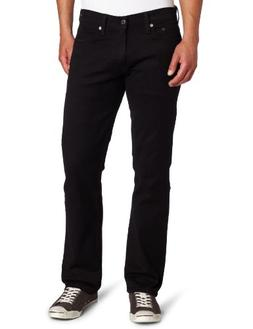 Levi_s Men_s 514 Straight fit Stretch Jean,  Black-Stretch,