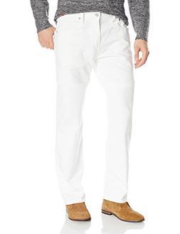 Levi's Men's 569 Loose Straight Leg Twill Pant, White, 36x32