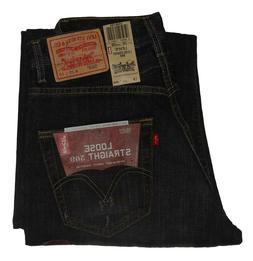 NWT American Eagle Men/'s Loose Jeans Dark Denim 32 34 x 34 inseam