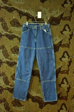 Dickies 6 Pocket Relaxed Fit Work Blue Jeans, Size 30x34