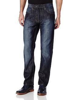 Southpole Men's 6181 Regular Straight Fit Shiny Streaky Deni