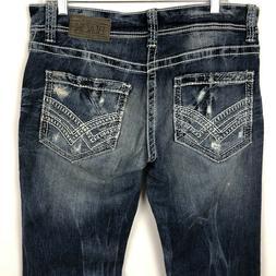 Buckle Black 9 Fit Men's Jeans Size 32x32 Straight Leg Distr