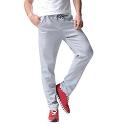 AMSKY❤ Men Trouser, Sports Gym Workout Pants Hip Hop Joggi