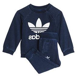 Adidas Originals Denim Infant Crew Track Suit Collegiate Nav