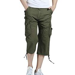 Alimao Clearance Sale Pants Men's Casual Pure Color Outdoors