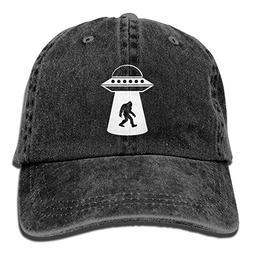 Bigfoot UFO Abduction Unisex Adult Adjustable Denim Dad Caps
