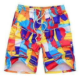 COOCOl pants Shorts Mens Board Shorts Plus Size Printed Beac