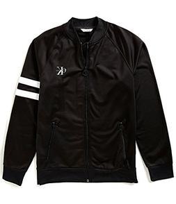 Calvin Klein Jeans Men's Full Zip Retro Track Jacket, Black,