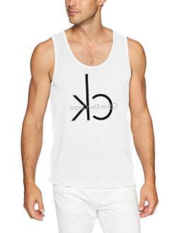 Calvin Klein Jeans Men's Iconic Logo Tank, Standard White, L
