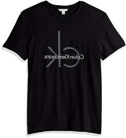 Calvin Klein Men's Short Sleeve Classic Ck Logo Crew Neck T-