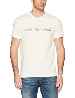 Calvin Klein Jeans Men's Short Sleeve T-Shirt HD Logo Crew N