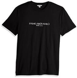 Calvin Klein Jeans Men's Short Sleeve T-Shirt Old School Log