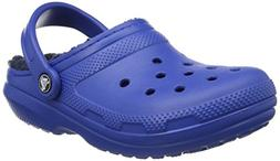 Crocs Unisex Classic Lined Clog,Blue Jean/Navy,11 US Men / 1