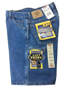 "Dickies Men's 55293 Cell Phone Pocket 10"" Denim Jean Shorts"
