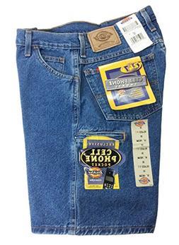 "Dickies Men's 55293 Cell Phone Pocket 10"" Denim Jean Shorts"