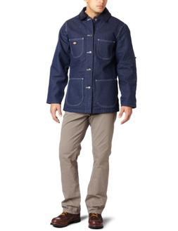 Dickies Men's Big Denim Blanket Lined Chore Coat, Indigo Rig