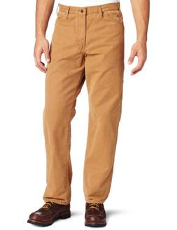 Dickies Men's Relaxed Fit Sanded Duck Carpenter Jean, Brown