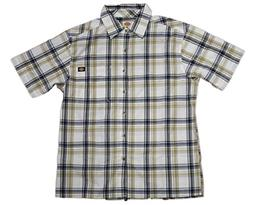 Dickies Men's Relaxed Fit Short Sleeve Square Bottom Plaid S
