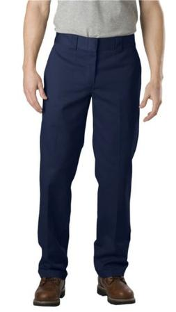 Dickies Men's Slim Straight Fit Work Pant, Washed Dark Navy,